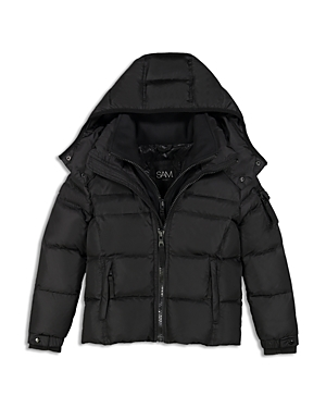 Sam. Boys' Matte Racer Puffer Jacket - Big Kid
