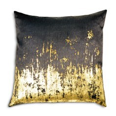 "Michael Aram - Distressed Metallic Viscose Print Decorative Pillow, 20"" x 20"""