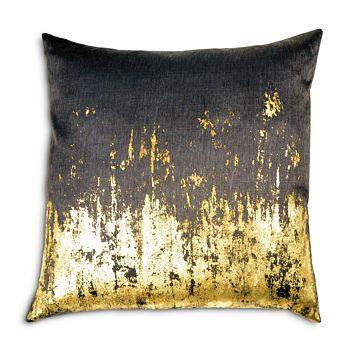 "Michael Aram - Distressed Metallic Viscose Print Decorative Pillow, 20"" x 20"""