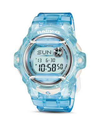 G-SHOCK BLUE RESIN STRAP WATCH 43MM