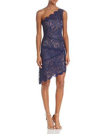 BCBGMAXAZRIA - One-Shoulder Lace Dress