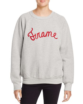 FRAME - Old School Embroidered Sweatshirt