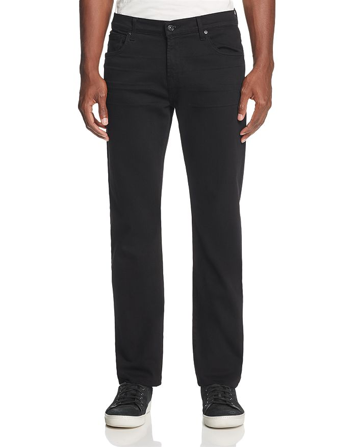 7 For All Mankind - Annex Slim Straight Fit Jeans in Black
