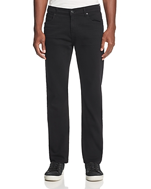 7 For All Mankind Annex Slim Straight Fit Jeans in Black