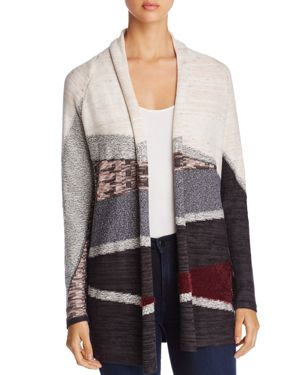 Nic+Zoe Dynasty Mixed Print Cardigan