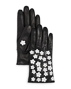 Echo Blossom Leather Tech Gloves - Bloomingdale's_0