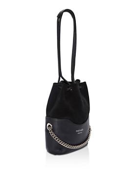 meli melo - Hetty Velvet & Leather Bucket Bag
