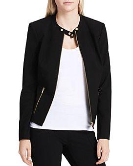 Calvin Klein - Crepe Moto Jacket