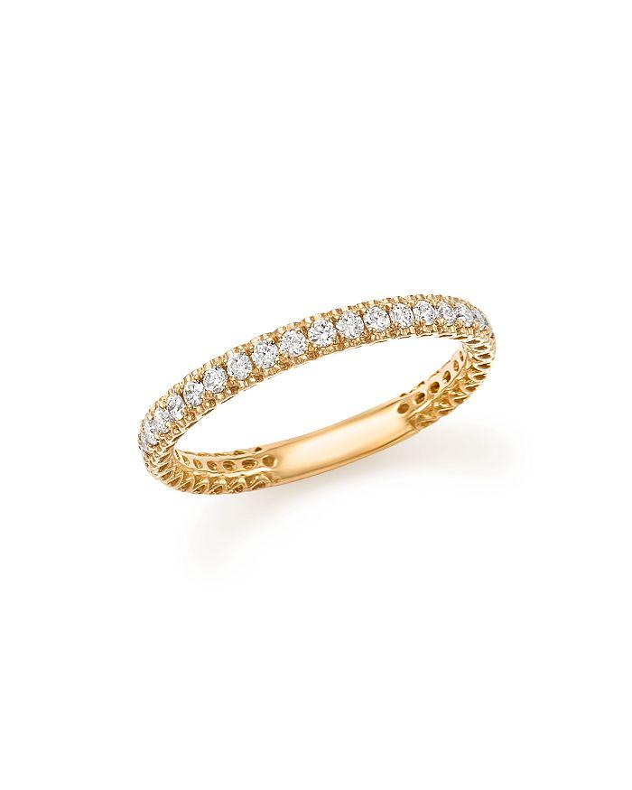Bloomingdale's - Heart Openwork Diamond Ring in 14K Yellow Gold, .25 ct. t.w. - 100% Exclusive