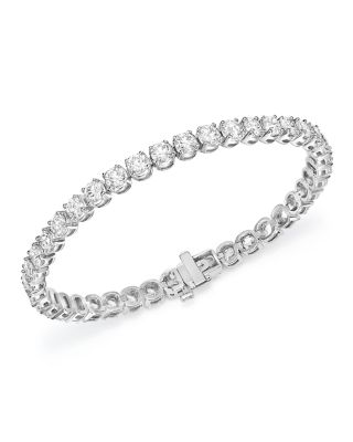 Certified Diamond Tennis Bracelet in 14K White Gold, 10.0 ct. t.w. - 100% Exclusive