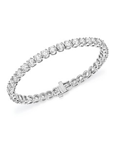 Bloomingdale's - Diamond Tennis Bracelet in 14K White Gold - 100% Exclusive