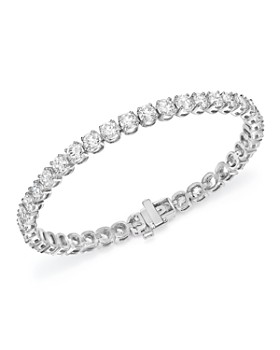 Bloomingdale S Diamond Tennis Bracelet In 14k White Gold 100 Exclusive