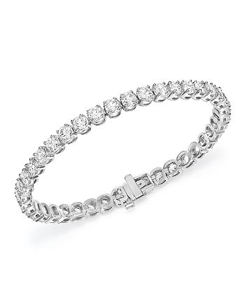Bloomingdale's - Diamond Tennis Bracelet in 14K White Gold, 6.0 ct. t.w. - 100% Exclusive