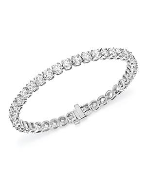 Certified Diamond Tennis Bracelet in 14K White Gold, 10.0 ct. t.w. - 100% Exclusive
