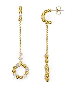 Nadri Eclat Cubic Zirconia Chain Drop Earrings