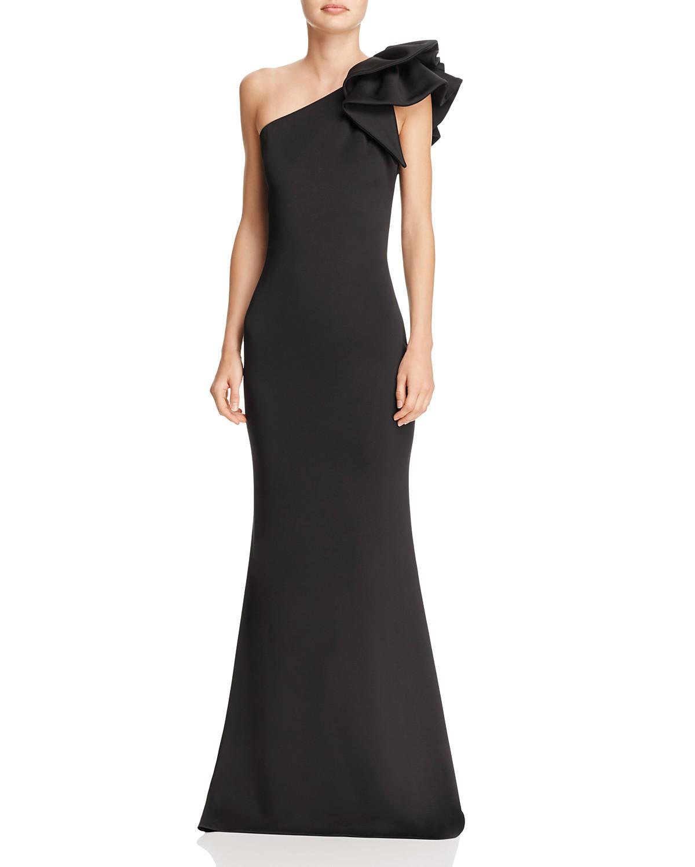 Aqua One Shoulder Scuba Gown 100 Exclusive Bloomingdales