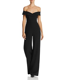 Black Halo - Yoli Off-the-Shoulder Jumpsuit