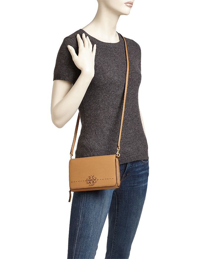 Tory Burch - McGraw Flat Leather Wallet Crossbody c330accec4746