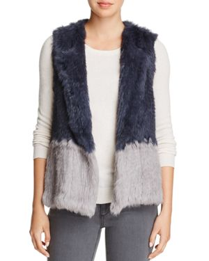 525 America Two-Tone Real Rabbit Fur Vest - 100% Exclusive