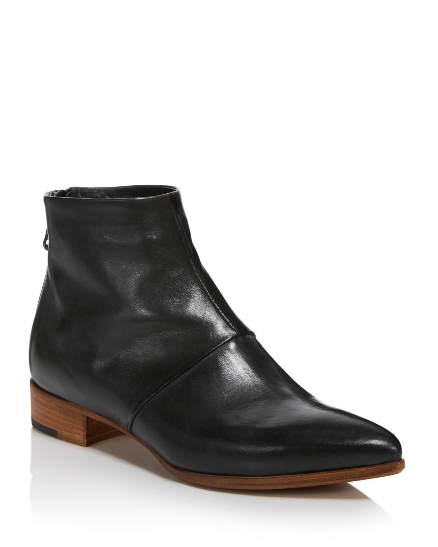 Alberto Fermani Women's Bellina Leather Low Heel Booties K6KiTCAa