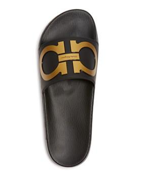 4d3ba4f66a0 ... Salvatore Ferragamo - Men s Groove 2 Original Double Gancini Slide  Sandals