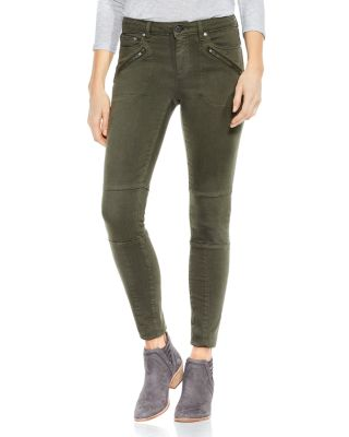 D-Luxe Moto Skinny Jeans In Army Green, Military Green