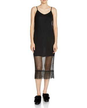 Maje Raelys Lace Midi Dress