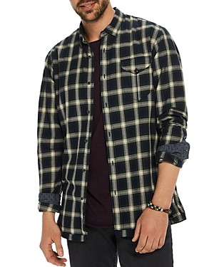 Scotch & Soda Plaid Long Sleeve Button-Down Shirt
