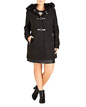 City Chic Wonderland Faux Fur-Trimmed Coat