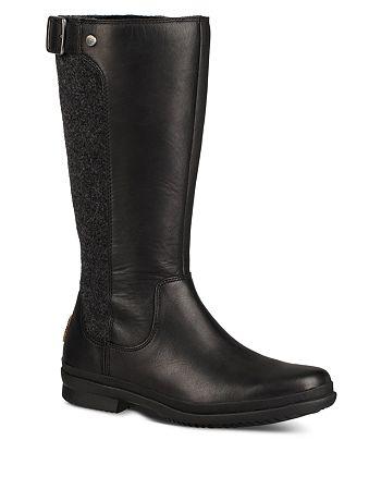 Ugg Women S Janina Waterproof Leather Paneled Tall Boots