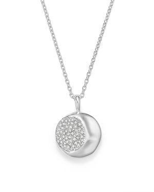 Ippolita Sterling Silver Onda Diamond Pendant Necklace, 16