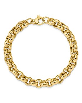 Bloomingdale's - 14K Yellow Gold Polished Rolo Link Bracelet - 100% Exclusive