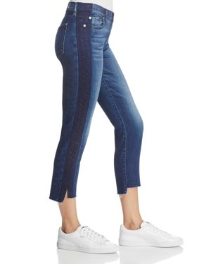 7 For All Mankind Roxanne Step Hem Skinny Jeans in Brooklyn Blue - 100% Exclusive 2736371
