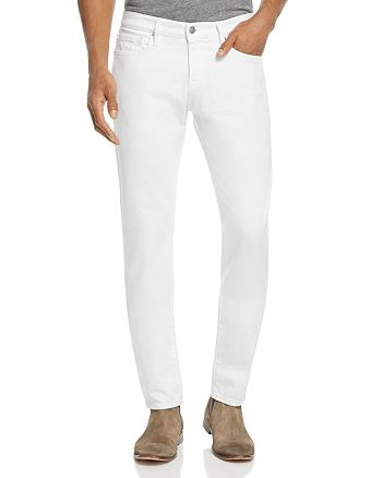 FRAME - L'Homme Slim Fit Jeans in Blanc