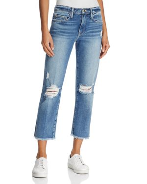 Frame Le Nouveau Straight Cropped Jeans in Sackett