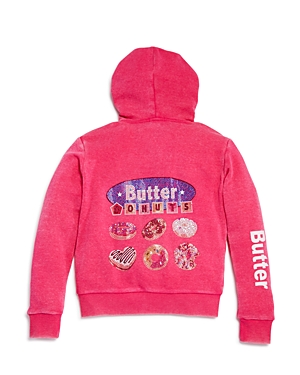 Butter Girls I Love Donuts ZipUp Hoodie Big Kid  100 Exclusive