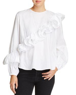 Petersyn Jessica Asymmetric Ruffled Shirt thumbnail