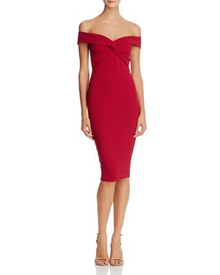 DOLLY OFF-THE-SHOULDER MIDI DRESS