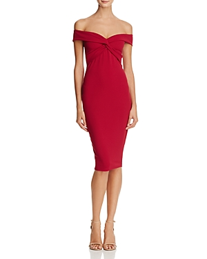 Nookie DOLLY OFF-THE-SHOULDER MIDI DRESS