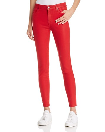 7 For All Mankind WeWoreWhat X Bloomingdale's The Ankle Skinny Jeans in Red Coated - 100% Exclusive