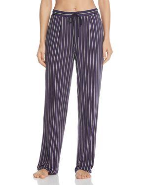 Dkny Plum Stripe Long Pants