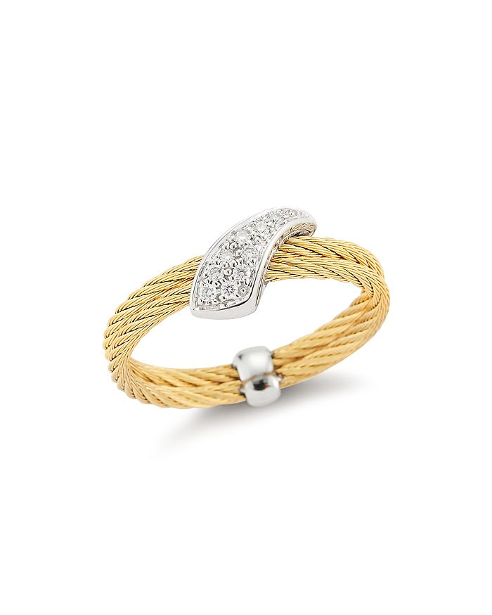 ALOR - Woven Diamond Ring