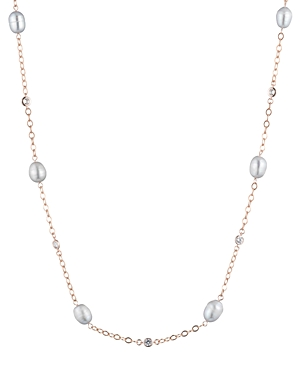 Lauren Ralph Lauren Illusion Pearl Necklace, 36