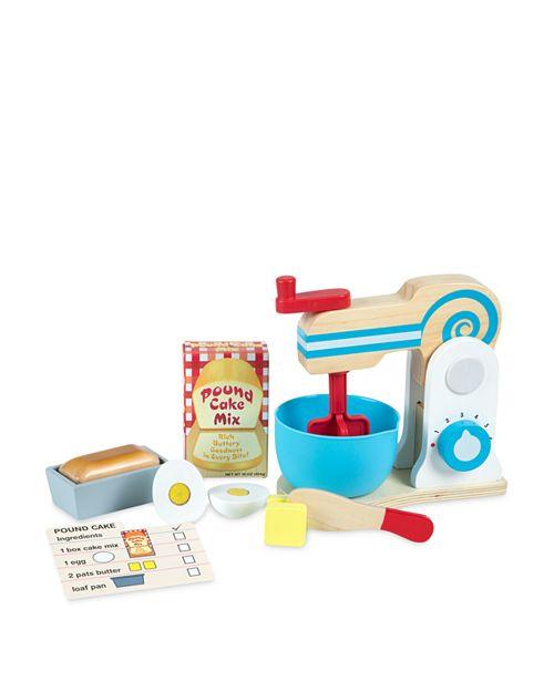 Melissa & Doug - Wooden Make-a-Cake Toy Mixer Set - Ages 3+