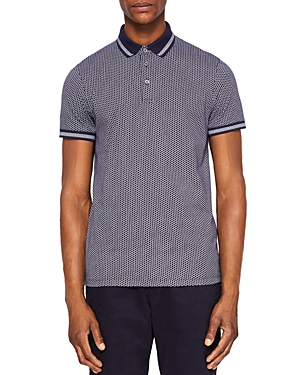 Ted Baker Norris Spot Print Regular Fit Polo