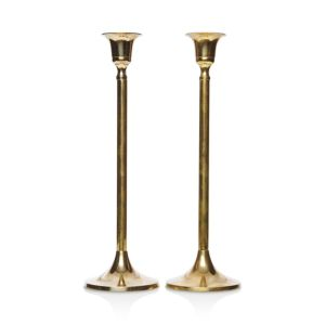 Food52 Vintage-Inspired Brass Candlesticks Tall, Set of 2