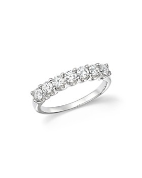 Bloomingdale's - Diamond Seven Stone Band in 18K White Gold, .90 ct. t.w. - 100% Exclusive