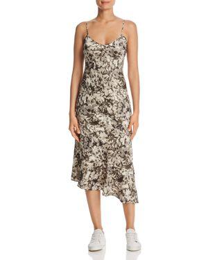 Kenneth Cole Printed Flounce-Hem Dress