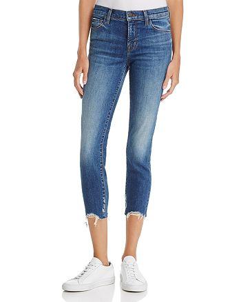 J Brand - 835 Cropped Skinny Jeans in Revoke - 100% Exclusive
