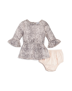Splendid Girls' Snake-Print Dress & Bloomers Set - Baby